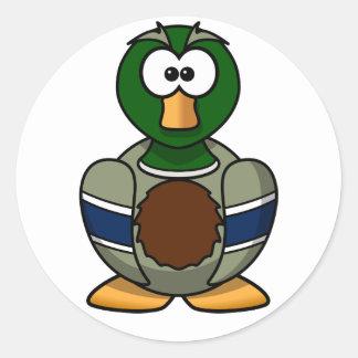 Pegatinas del pato del pato silvestre del dibujo etiqueta redonda