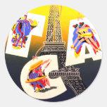 Pegatinas del pegatina de París del destino