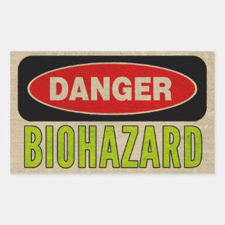 Pegatinas del peligro del Biohazard Pegatina Rectangular