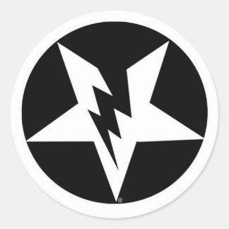 pegatinas del pentagram etiqueta redonda