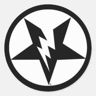 pegatinas del pentagram etiquetas redondas