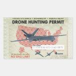 Pegatinas del permiso de la caza del abejón rectangular pegatinas