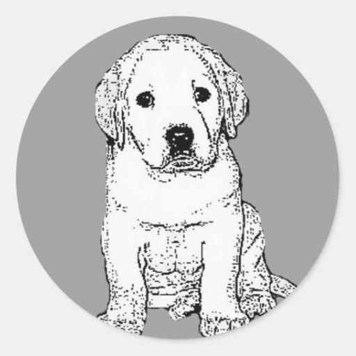 Pegatinas del perrito de Labrador Etiquetas Redondas