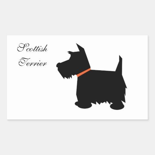 Pegatinas del perro de la silueta del negro del rectangular altavoces