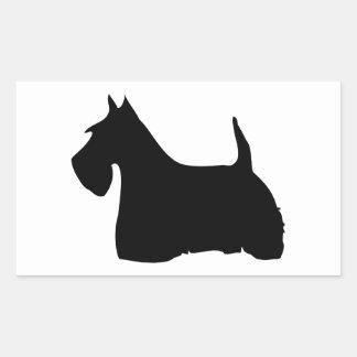 Pegatinas del perro de la silueta del negro del pe