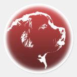 Pegatinas del perro de Terranova de los pegatinas Etiqueta Redonda