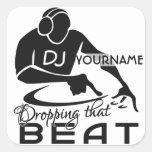 Pegatinas del personalizado de DJ Pegatinas Cuadradas