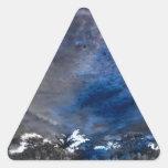 Pegatinas del personalizado de las impresiones de  calcomanías trianguladas