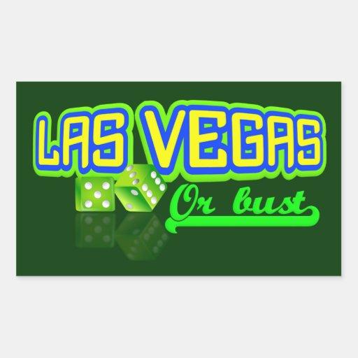 Pegatinas del personalizado de Las Vegas Rectangular Altavoz