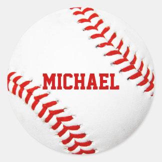Pegatinas del personalizado del béisbol pegatina redonda
