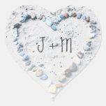 Pegatinas del personalizado del favor del boda del colcomanias corazon