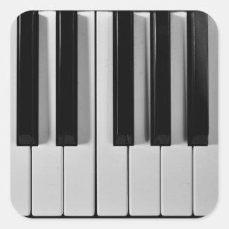 Pegatinas del personalizado del teclado de piano pegatina cuadrada