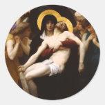 Pegatinas del Pieta de Bouguereau Pegatinas Redondas