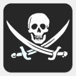 Pegatinas del pirata pegatinas cuadradases