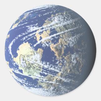 Pegatinas del planeta pegatina redonda