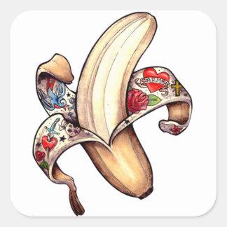 ¡Pegatinas del plátano de Hannah! Pegatina Cuadrada