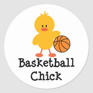 Pegatinas del polluelo del baloncesto pegatinas redondas