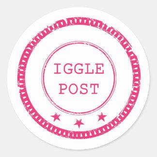 Pegatinas del poste de Iggle Pegatina Redonda
