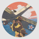 Pegatinas del poster de la guerra del vintage pegatina redonda