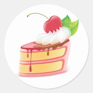 Pegatinas del postre de la torta pegatina redonda
