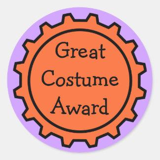 Pegatinas del premio del traje de Halloween Pegatina Redonda