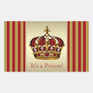 Pegatinas del príncipe fiesta de bienvenida al rectangular altavoces
