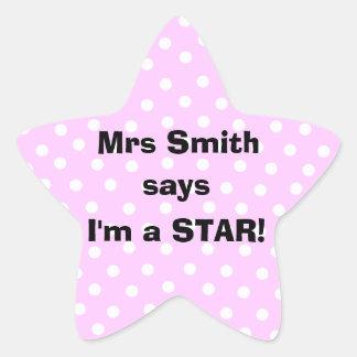 Pegatinas del profesor de Personalizable - soy una Colcomanias Forma De Estrella