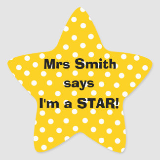 Pegatinas del profesor de Personalizable - soy una Pegatina En Forma De Estrella