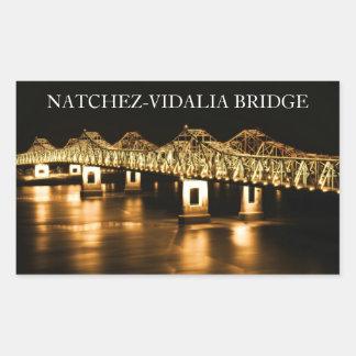Pegatinas del puente del río Misisipi de Pegatina Rectangular