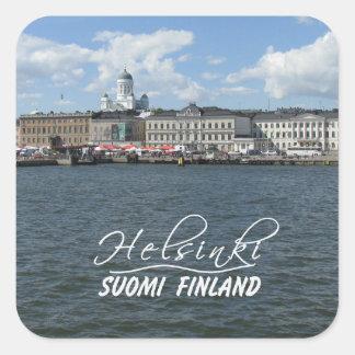 Pegatinas del puerto de Helsinki Pegatina Cuadrada