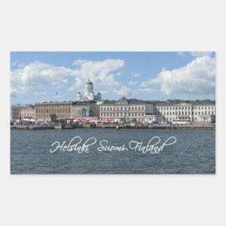 Pegatinas del puerto de Helsinki Pegatina Rectangular