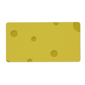 Pegatinas del queso etiquetas de envío