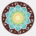 Pegatinas del radiante de Lotus Pegatina Redonda