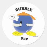 Pegatinas del rap de la burbuja etiquetas redondas
