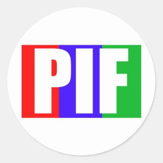 Pegatinas del rastro de Piffington Pegatina Redonda