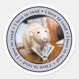 Pegatinas del ratón de Marty - amor de I a leer