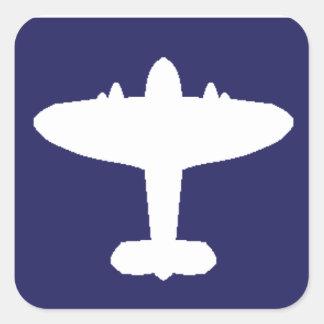 Pegatinas del reconocimiento de los aviones pegatina cuadrada