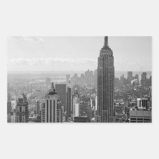 Pegatinas del rectángulo de New York City