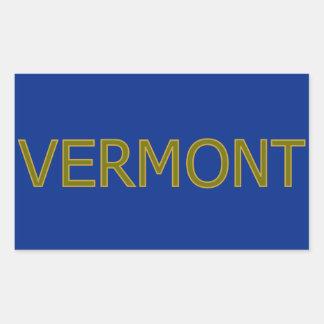 Pegatinas del rectángulo de Vermont Pegatina Rectangular