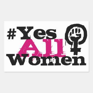 Pegatinas del rectángulo del feminismo de los pegatina rectangular