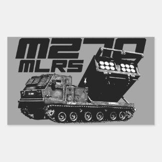 Pegatinas del rectángulo del MLRS M270 Pegatina Rectangular