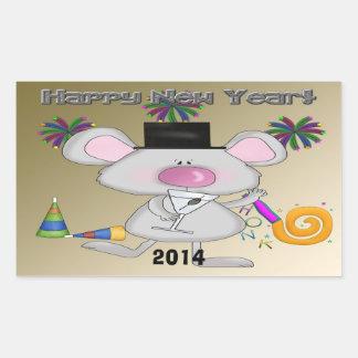 Pegatinas del rectángulo del ratón del Año Nuevo Rectangular Altavoz