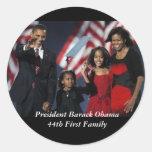 Pegatinas del recuerdo de Obama Pegatina Redonda