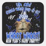 Pegatinas del recuerdo del Año Nuevo del camello Calcomanías Cuadradas