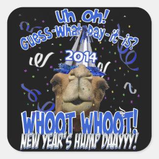 Pegatinas del recuerdo del Año Nuevo del camello 2