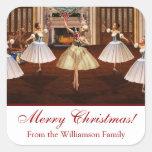 Pegatinas del regalo de las Felices Navidad del ca