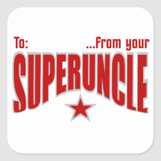 ¡Pegatinas del regalo de SUPERUNCLE - Pegatina Cuadrada