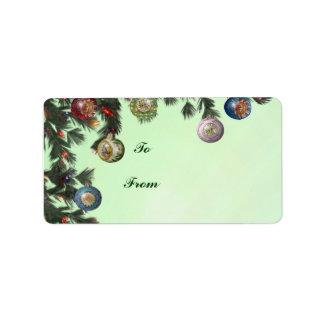 Pegatinas del regalo del bulbo del reflector etiqueta de dirección