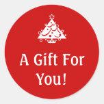Pegatinas del regalo del navidad etiquetas redondas
