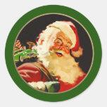 Pegatinas del regalo del navidad de Papá Noel del Pegatinas Redondas